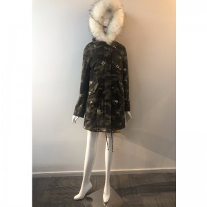 CAMO HOODED COAT RADWPC0034